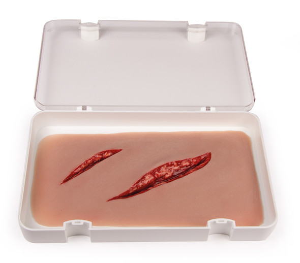 Skin Moulage, Large Cut Wound - Bleeding