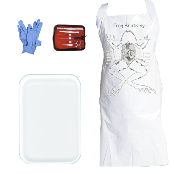 Anatomy Lab Dissection Kit with Apron, Gloves, Dissection Tool Set, and Medium Foam Tray