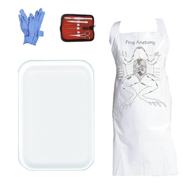 Anatomy Lab Dissection Kit with Apron, Gloves, Dissection Tool Set, and Large Foam Tray