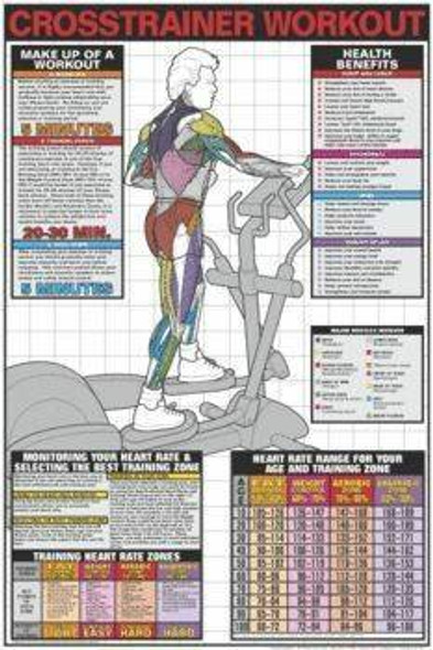 Crosstrainer Workout Laminated Fitness Poster