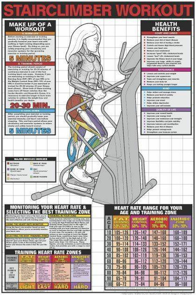 Stairclimber Workout Laminated Fitness Poster