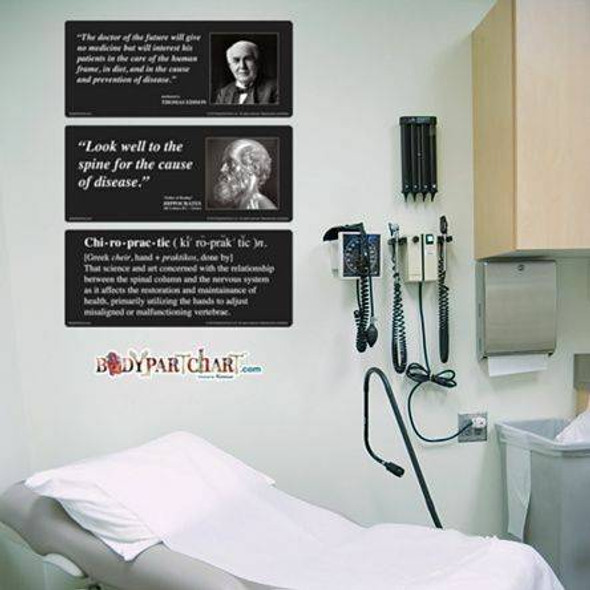 Chiropractic Quotes Signage Dry-Erase Sticky Wall Chart - 27 in x 40 in