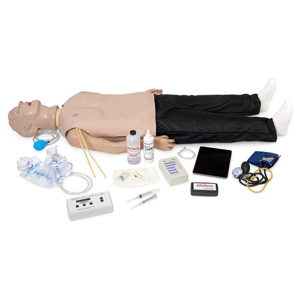 Life/form Deluxe Plus CRiSis Manikin with CPR Metrix and iPad