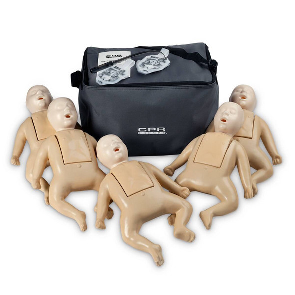 CPR Prompt TPAK 50 Infant Training Pack - 5 Tan Manikins
