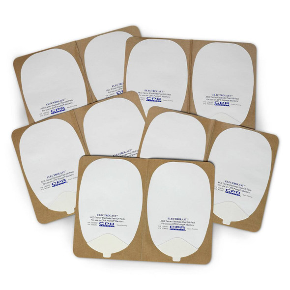 ElectroLast AED Trainer Foam Electrode Peel-Off Pads - Heartstream Style