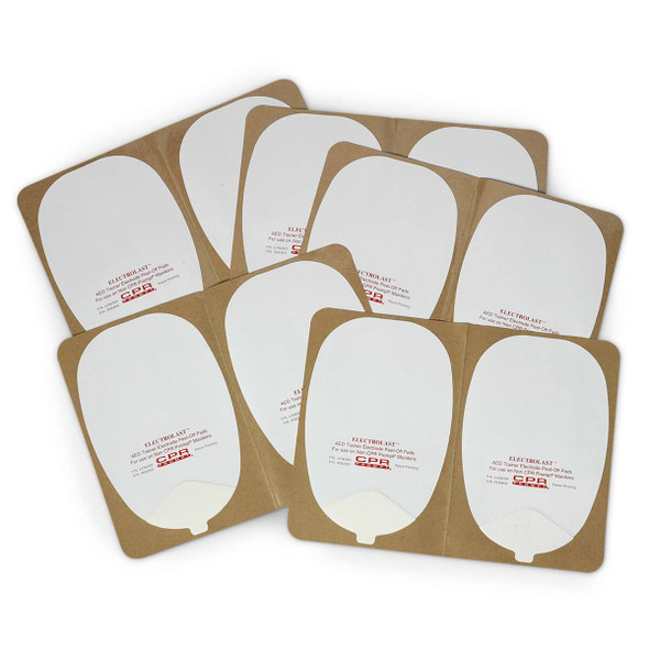 ElectroLast AED Trainer Skin Electrode Peel-Off Pads - Heartstream Style