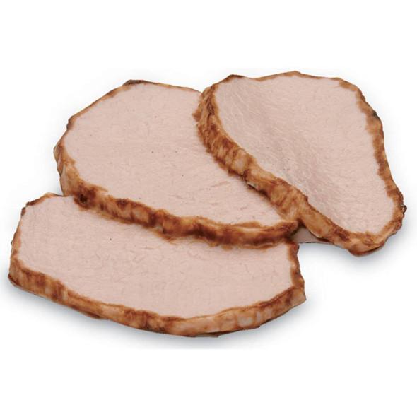 Nasco Pork Tenderloin Food Replica - 3 oz Cooked