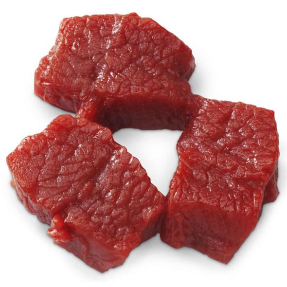 Nasco Beef Cubes Food Replica - Raw - 3 oz