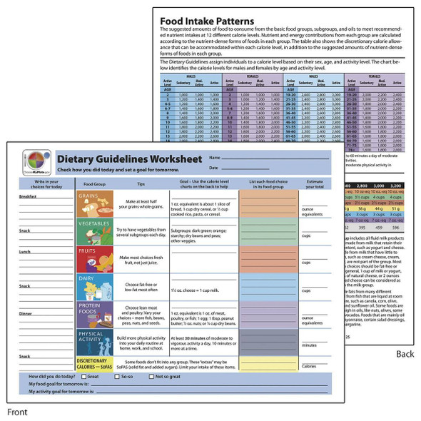 Dietary Guidelines TearPad