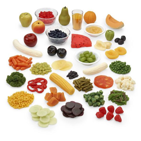 Nasco Fruit and Vegetable Rainbow Food Replica Kit