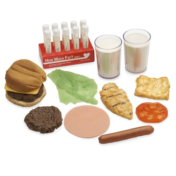 Nasco How Much Fat? Test Tube Display and Food Replica Set