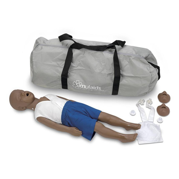 Kyle African-American CPR Manikin With Carry Bag 3-Year-Old