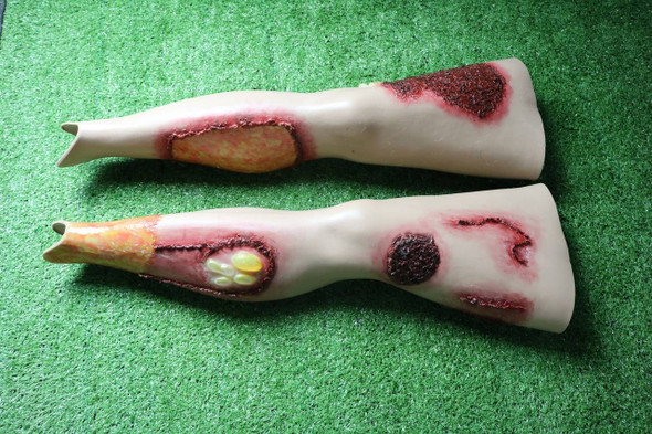 Anatomy Lab Moulage - Wearable Burn Legs