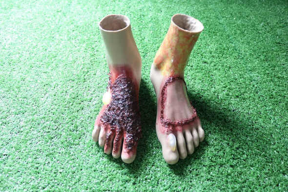 Anatomy Lab Moulage - Wearable Burn Feet