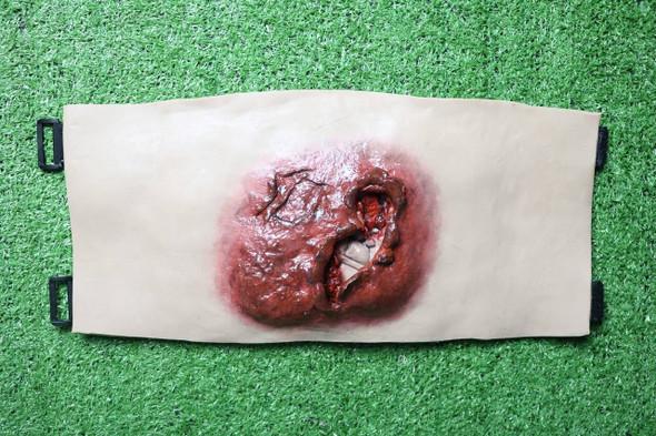 Anatomy Lab Moulage - Wearable Hemorrhaging Blast Abdomen