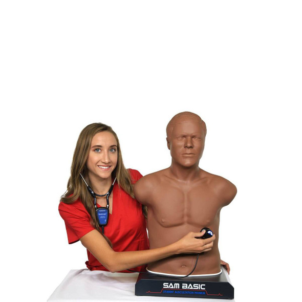 SAM Basic the Student Auscultation Manikin - Dark 1