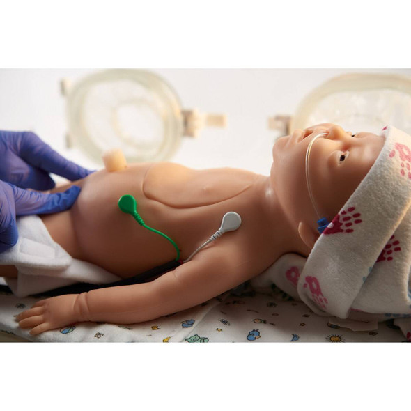 Life/form CHARLIE Neonatal Resuscitation Simulator with Interactive ECG Simulator