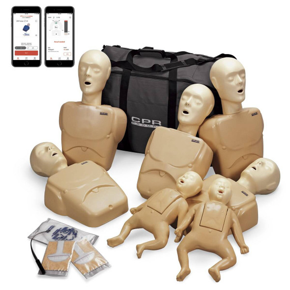 CPR Prompt Plus Complete TPAK700 7-Pack powered by Heartisense - Tan