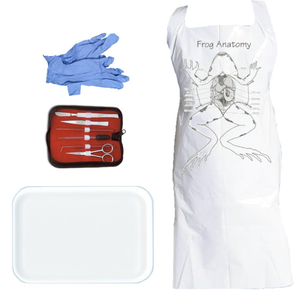 Anatomy Lab Dissection Kit with Apron, Gloves, Dissection Tool Set, and Small Foam Tray