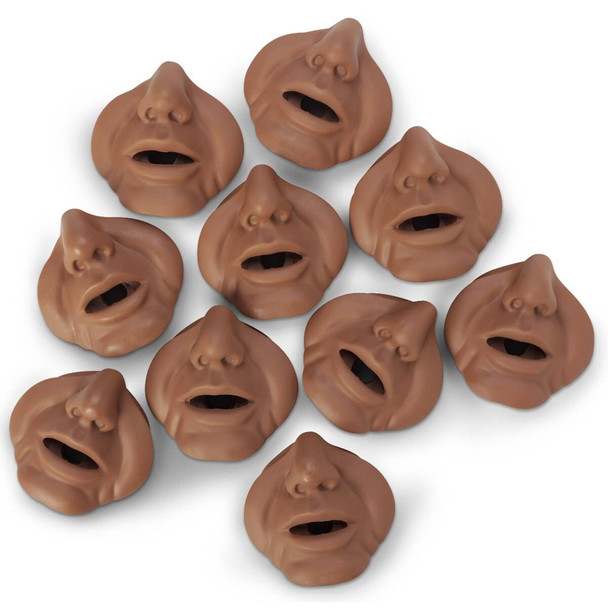 Mouth/Nose Pieces for Life/form Bariatric CPR Manikin - Dark
