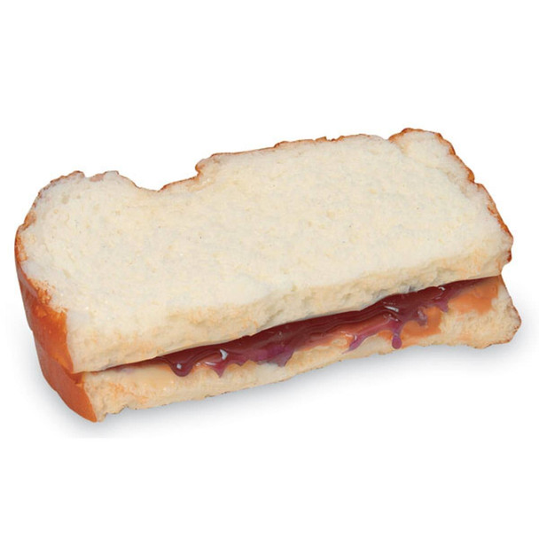 Nasco Sandwich Food Replica - Peanut Butter and Jelly - Half Sandwich