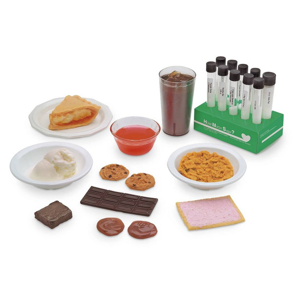 How Much Sugar? Test Tube Display and Nasco Sugar and Food Replica Kit