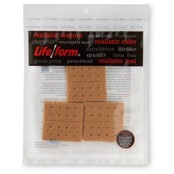 Nasco Crackers Food Replica - Graham - Pkg of 3