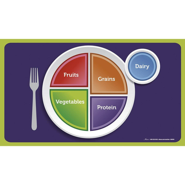 MyPlate Cling Place Mats - 19 in x 11 in - Set of 5