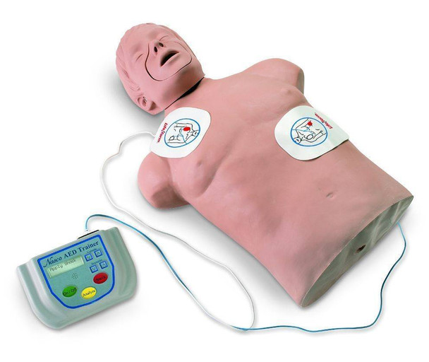 Life/Form AED Trainer Simulator Package With CPR Brad Manikin