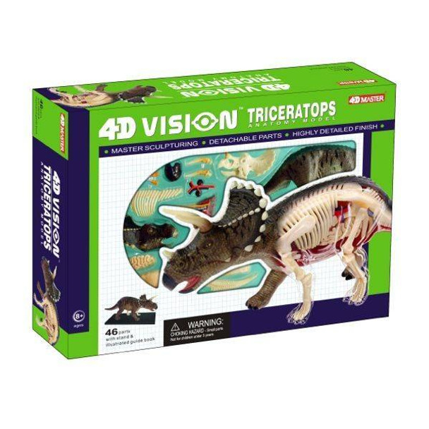 4D Vision Triceratops Anatomy Puzzle