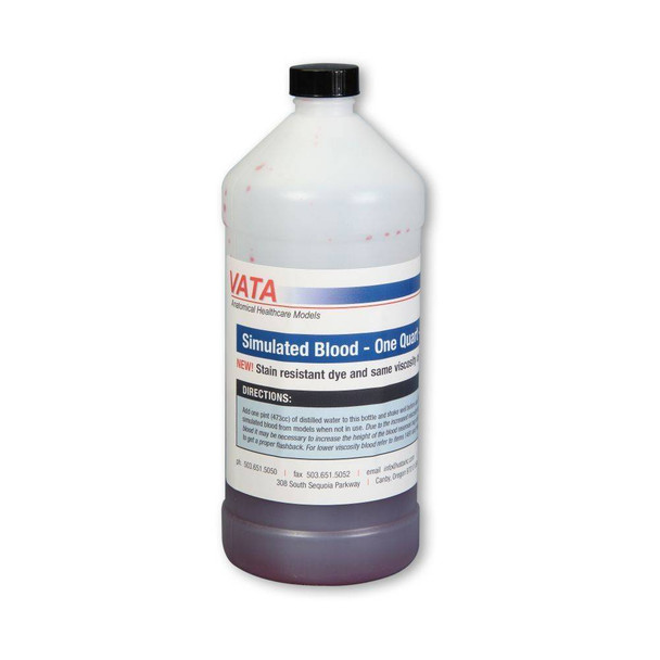 Simulated Blood-Same Viscosity As Real Blood-Stain Resistant- One Quart