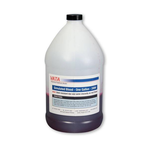 Simulated Blood-Same Viscosity As Real Blood-Stain Resistant- One Gallon