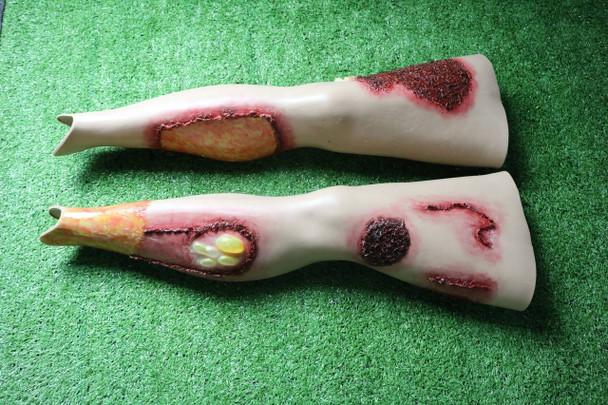 Anatomy Lab Moulage - Wearable Burn Legs