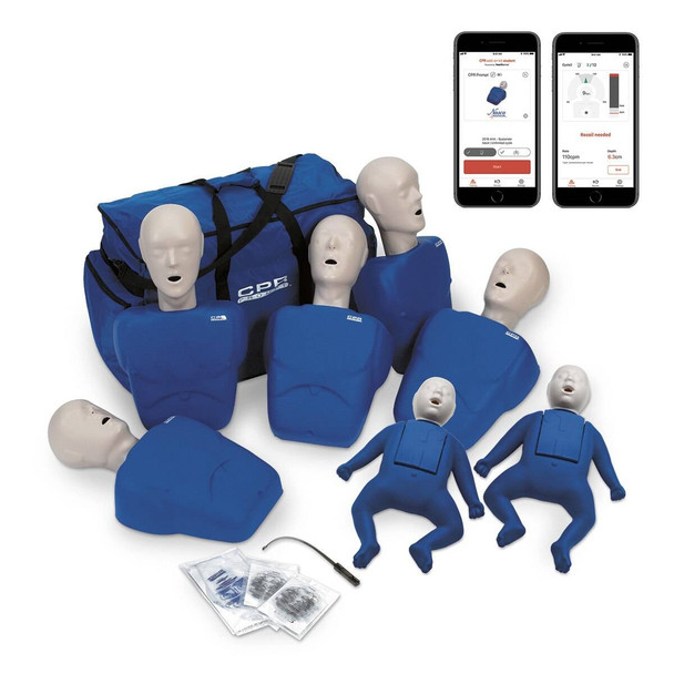 CPR Prompt Plus Complete TPAK700 7-Pack powered by Heartisense - Blue