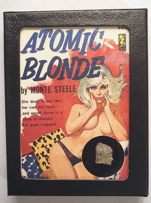 Atomic Blonde Trinitite Display, Retro Pulp Sci Fi Girl