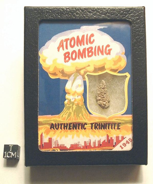 Trinitite Display, Atom Bomb Glass, Historic Trinity Test 1945