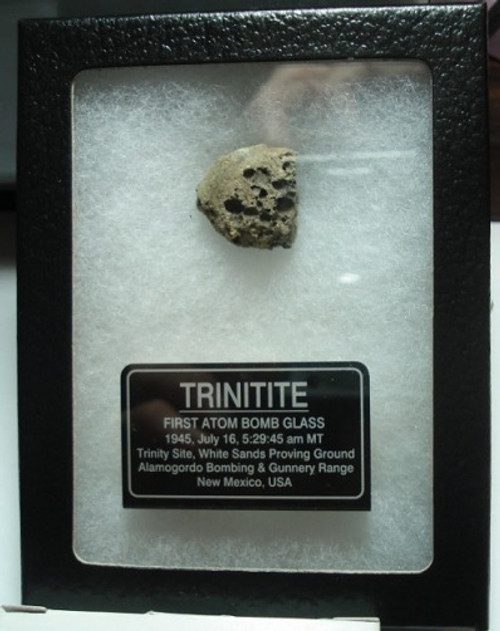 Trinitite Display, Historic Trinity Test Atom Bomb Glass
