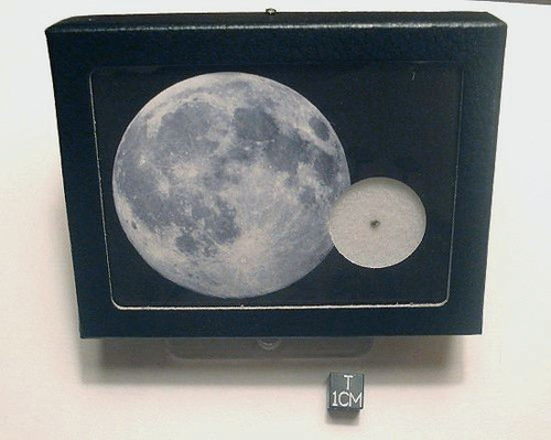 MOON ROCK Display, Genuine Lunar Meteorite Sample Box