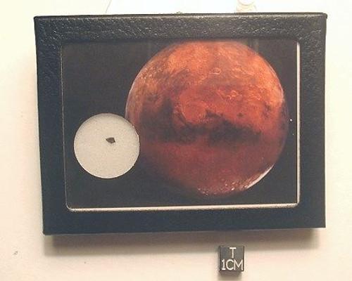 MARS ROCK Display, Martian Meteorite, Shergottite Gabbro