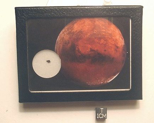 MARS ROCK Display, Martian Meteorite, Basaltic Shergottite
