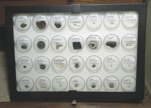 Museum Display Case, Collection of Rare Artifacts from Around the World