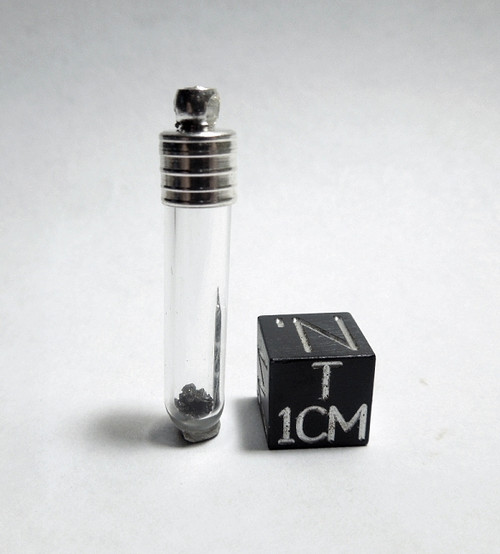 Moon Rock Pendant, Glass Vial with Genuine Lunar Meteorite