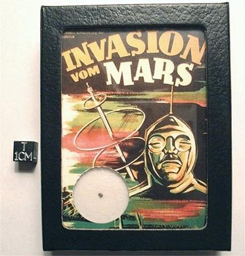 MARS ROCK Display, Retro Invasion from Mars, Shergottite Meteorite