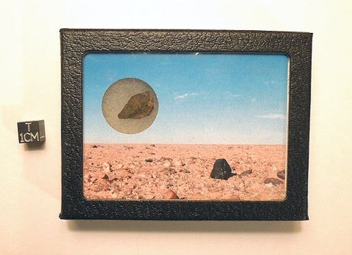 Saharan Meteorite Display - Genuine Space Rock from Moroccan Desert