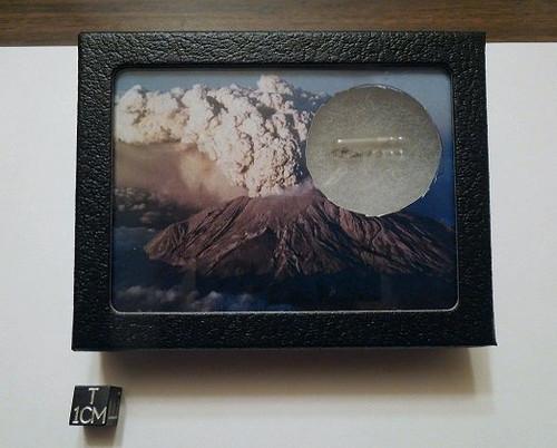 Mount St. Helen's Volcano Eruption Display, Genuine Ash Sample