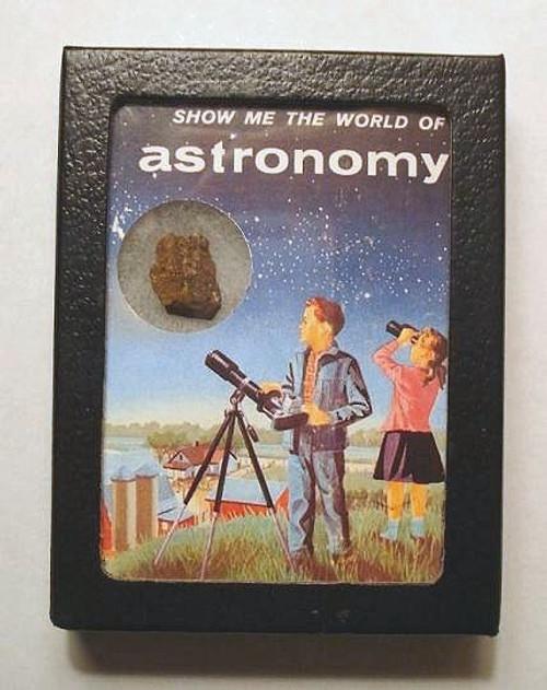 Vintage Astronomy Telescope Meteorite Display
