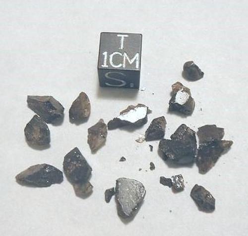 Brenham, Classic American Pallasite Meteorite, Micromount