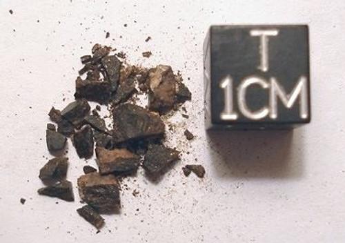 JaH 027, Jiddat al Harasis Oman, L6 Chondrite, Micromount