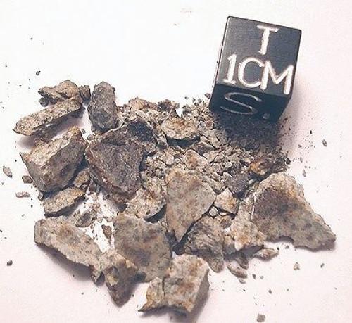 NWA 6287, Brecciated LL5 Chondrite, Micromount