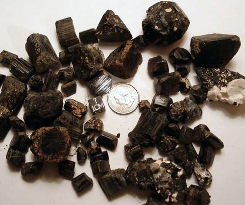 Black Tourmaline, Large Raw Schorl Crystal